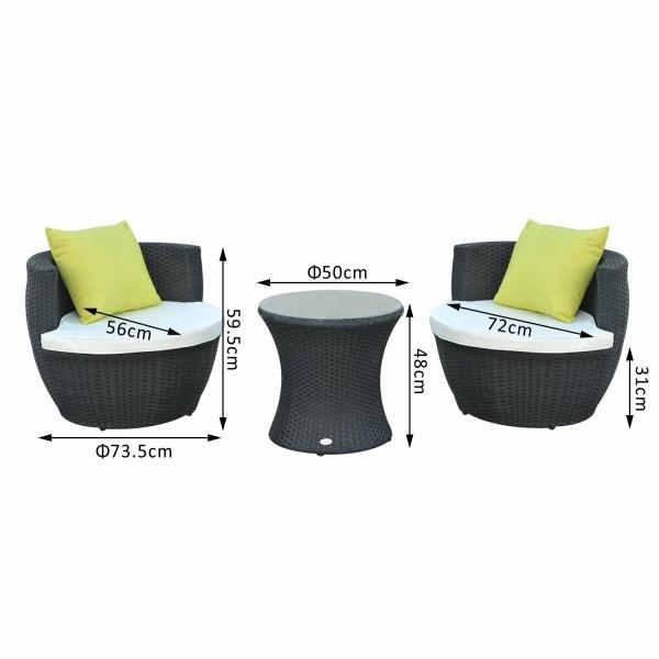 Yolanda 2 Seater Rattan Conversation Set - NEW