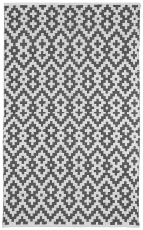 Fab Habitat 4 x 6 ft Indoor Cotton Rug Samsara Charcoal Grey and White