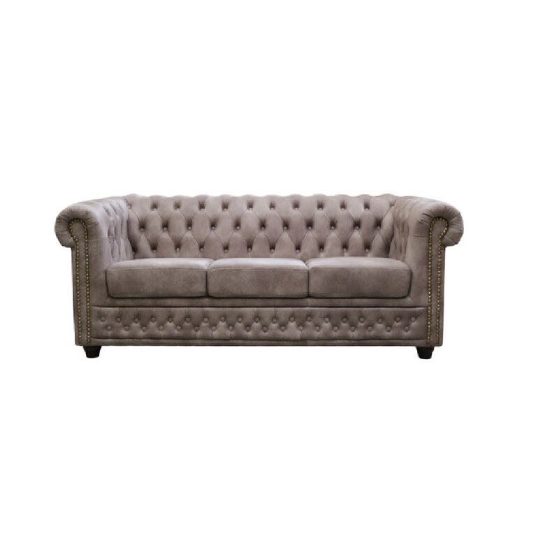 Marilyn 3 Seater Chesterfield Sofa (Brown)