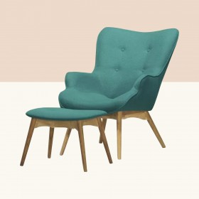 Jolene Lounge Chair and Footstool