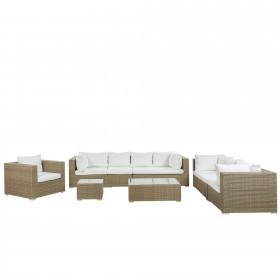 Mujde 8 Seater Rattan Sofa Set - AS NEW without original packaging