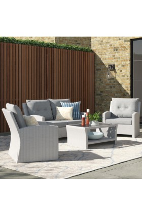 Angelyn 4 Seater Rattan Sofa Set