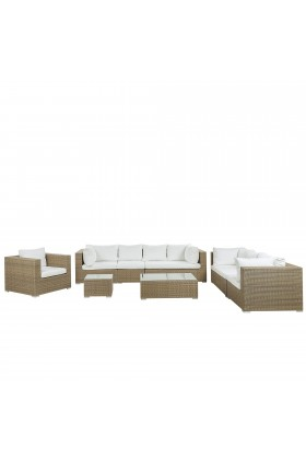 Mujde 8 Seater Rattan Sofa Set - AS NEW without original packaging