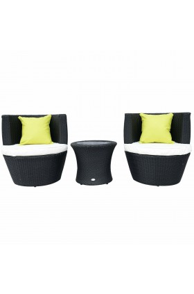 Yolanda 2 Seater Rattan Conversation Set - NEW