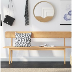 Hanlon Wood Dining Benches (Pair) - One Large and One Small